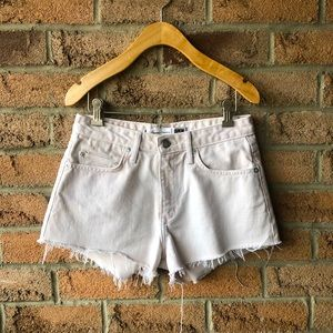 LOVERS + FRIENDS | Pastel pink denim cutoff short